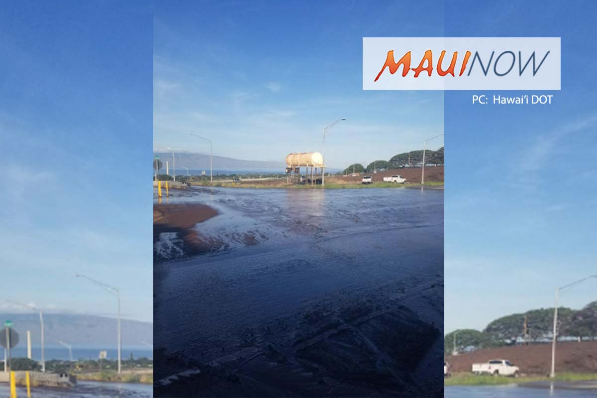 Traffic Alert: Crews Cleaning Muddy Ditch Mauka of Lahaina Bypass
