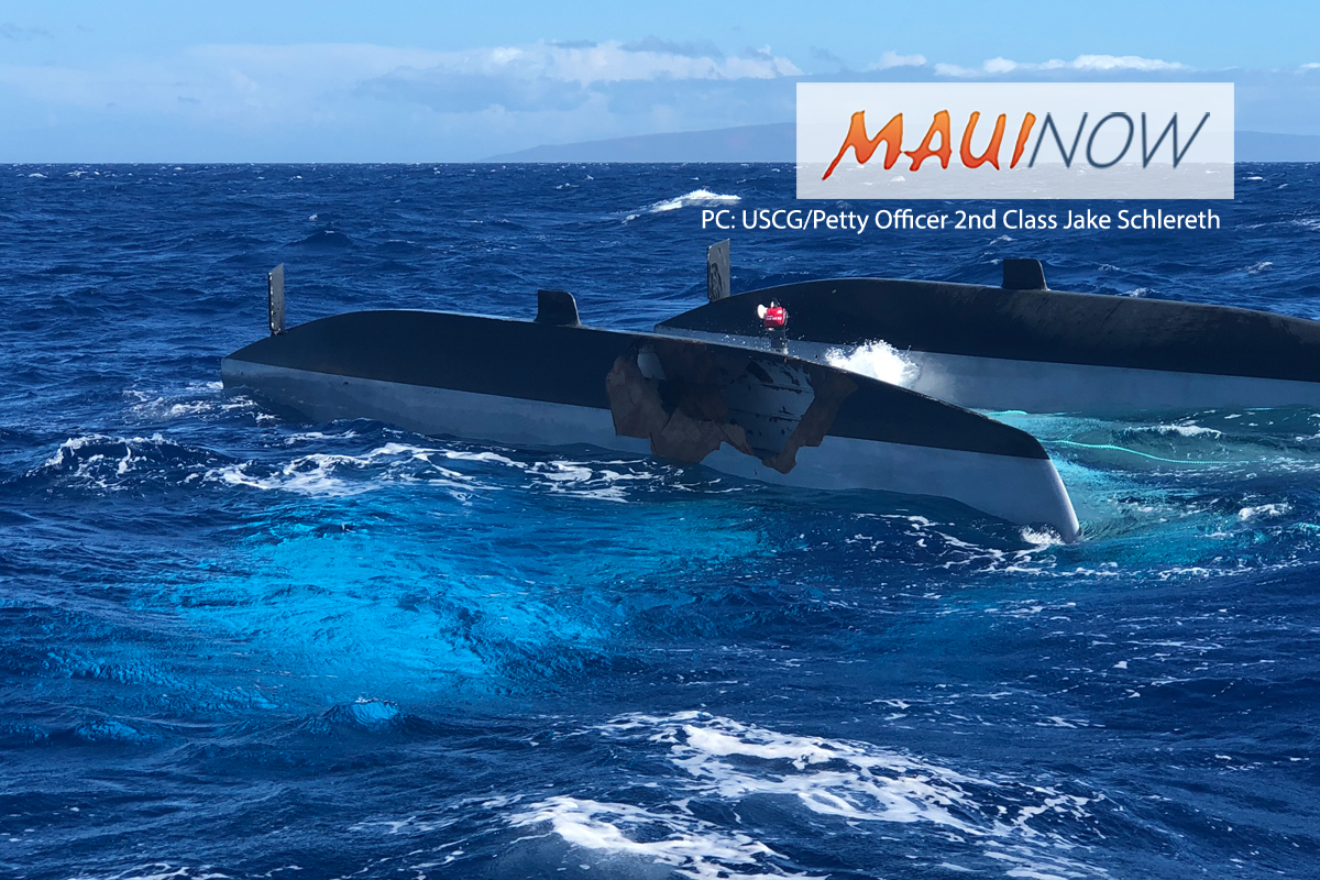 Capsized Canoe off Kīhei, Overturned Catamaran off Lāna'i