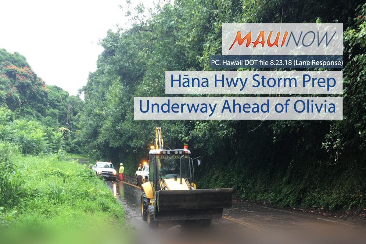 Hāna Highway Preparations Underway Ahead of Olivia