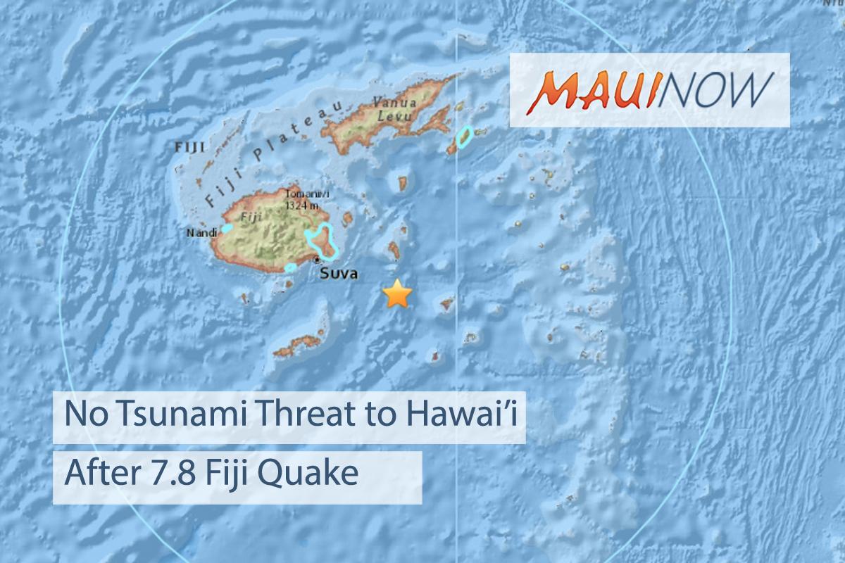 No Tsunami Threat After 7.8 Fiji Earthquake