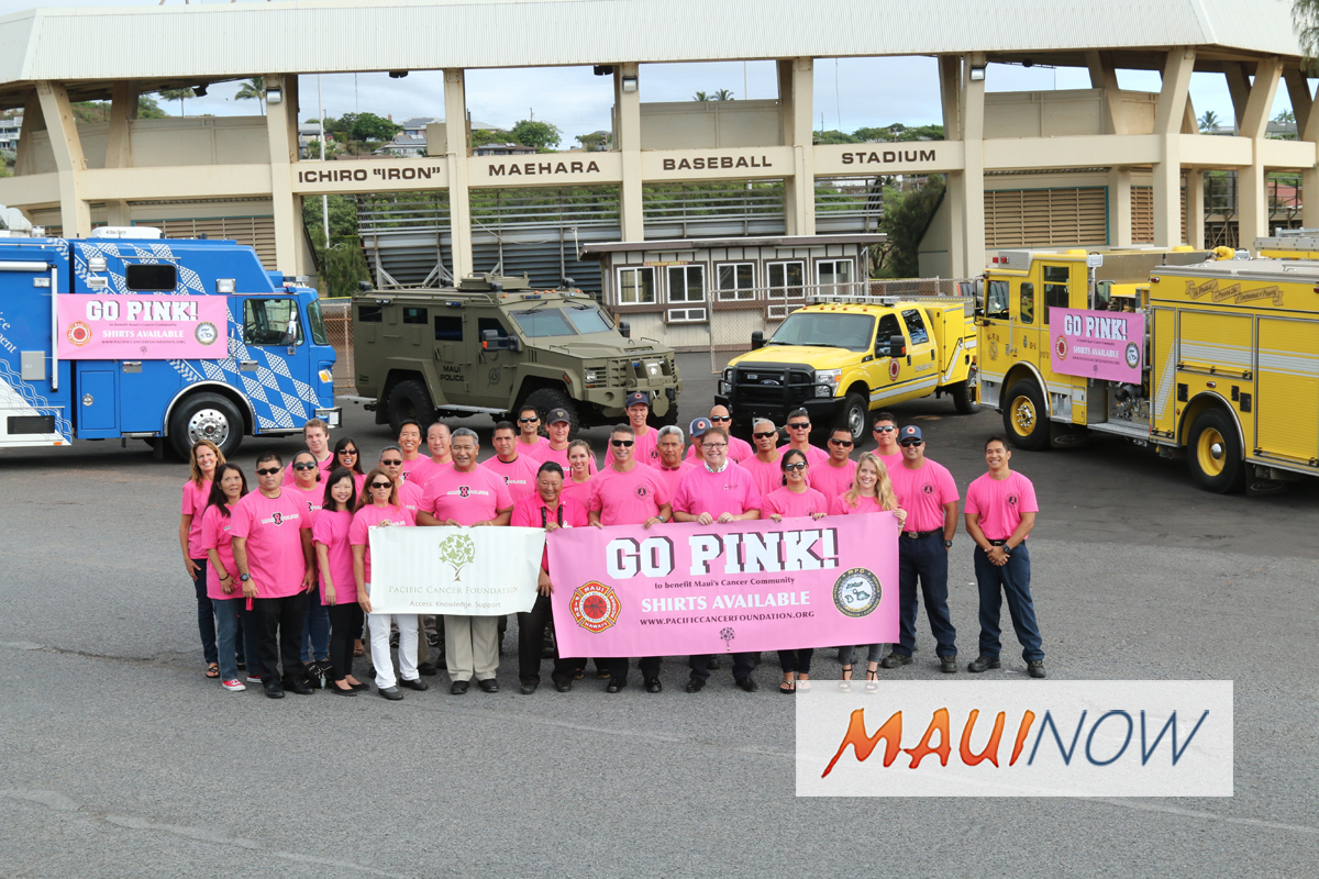 Maui 2018 GO PINK Campaign Launch to Fight Cancer