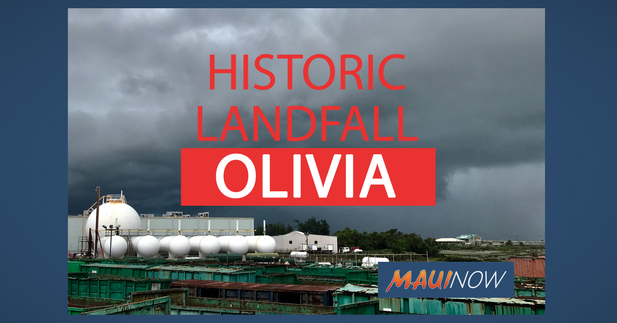 Olivia Maui Photos: Historic Landfall Made on Maui and Lānaʻi