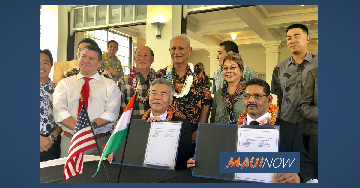 Hawai'i and Goa, India Enter Sister-State Relationship