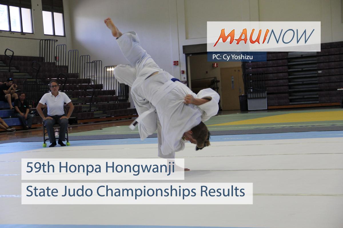 59th Honpa Hongwanji State Judo Championships Results
