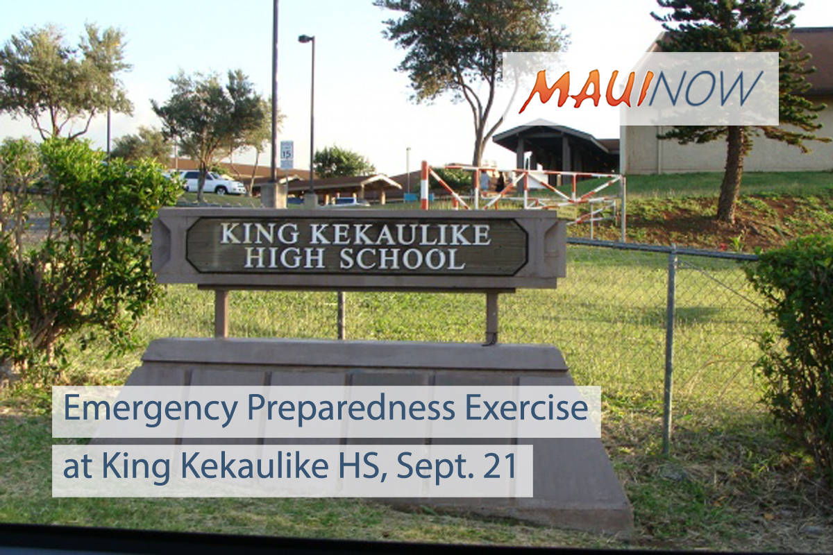 Emergency Preparedness Exercise at King Kekaulike HS