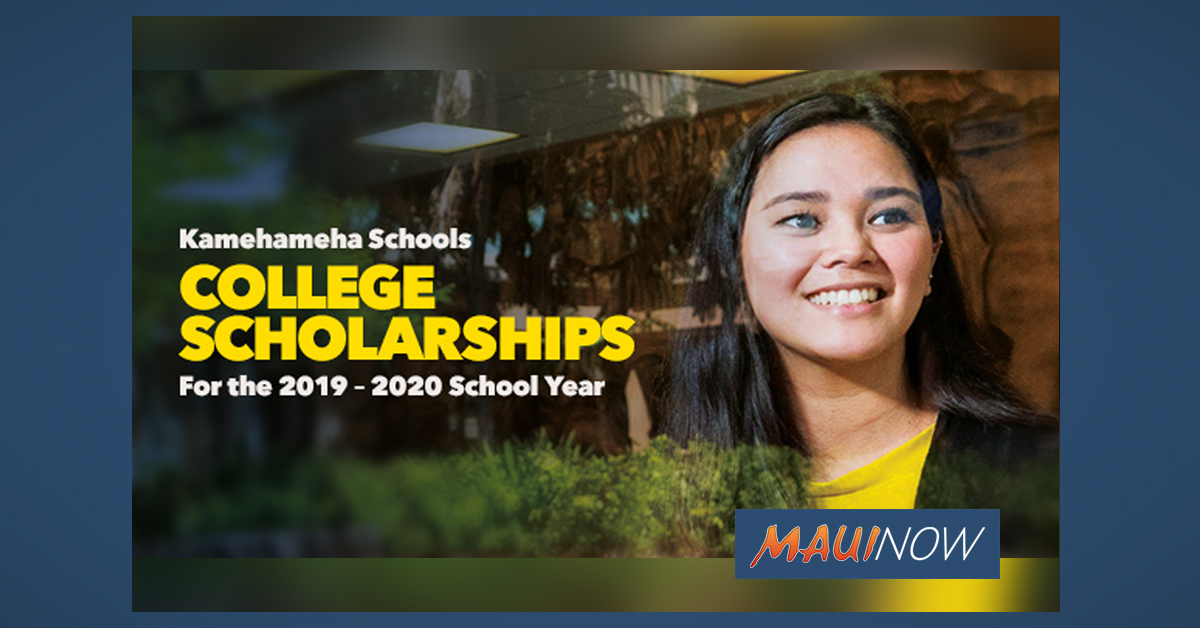 Kamehameha Schools College Scholarships Available