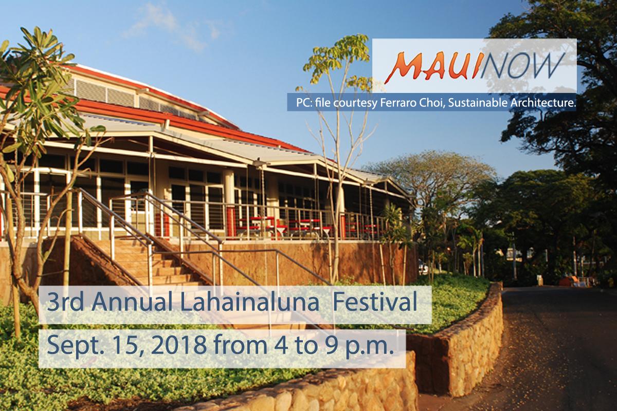 3rd Annual Lahainaluna  Festival, Sept. 15
