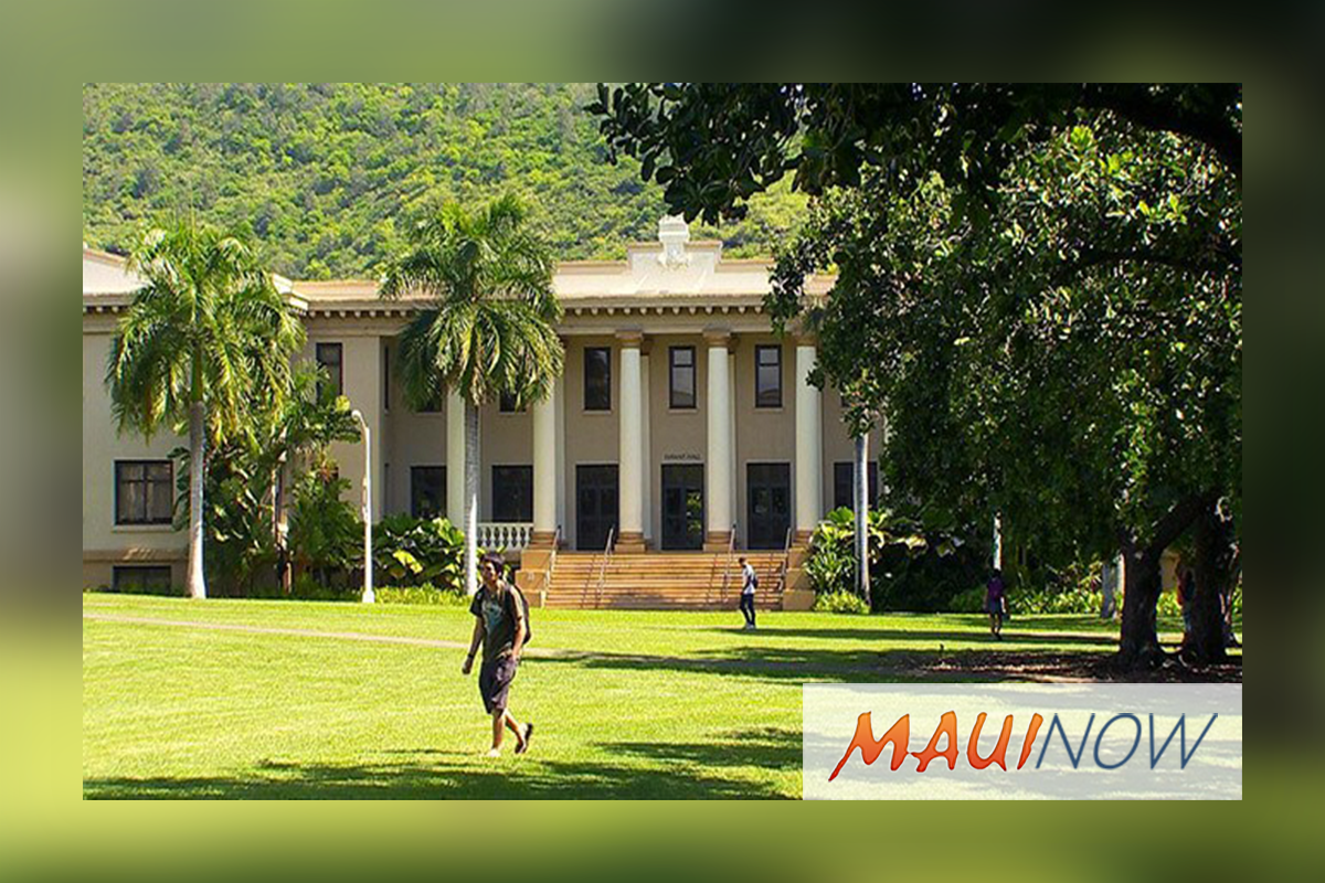 UH Mānoa Moves up in Ranking