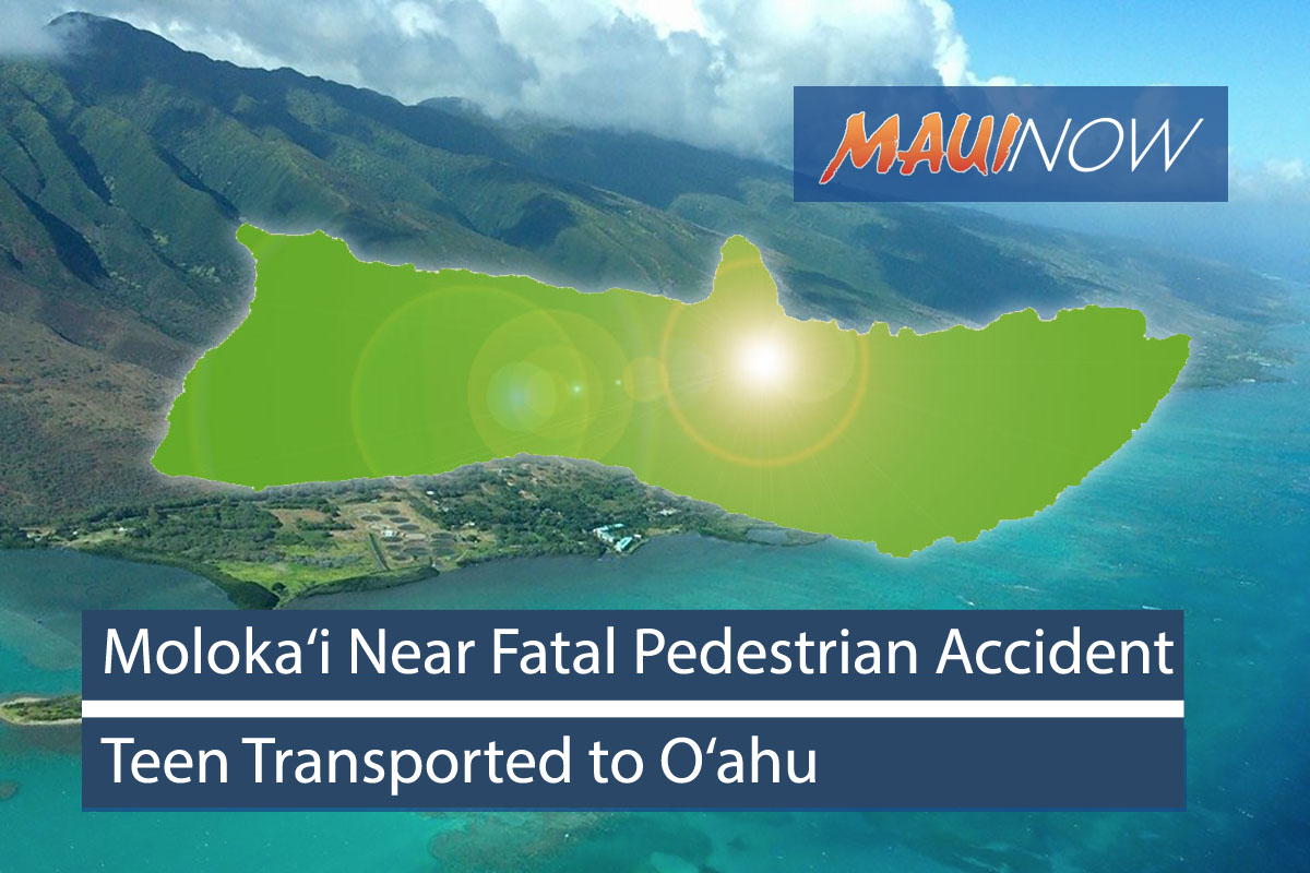 Teen Pedestrian Injured in Moloka'i Motor Vehicle Collision
