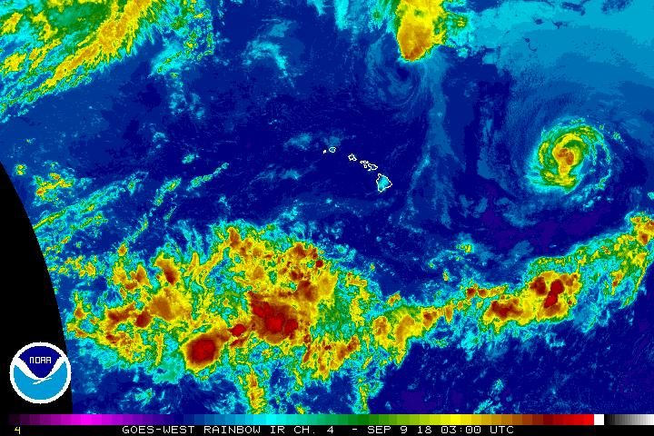 Olivia Enters Central Pacific Basin as Category 1 Hurricane