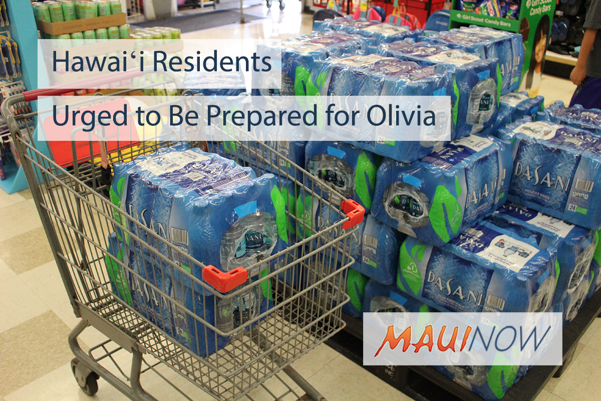 Hawaiʻi Residents Urged to Be Prepared for Olivia