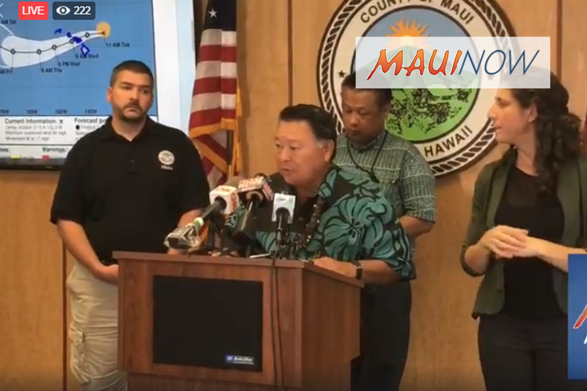 Non-Essential County Offices Closed Wednesday, Maui Shelters to Open at 6 p.m. Tonight