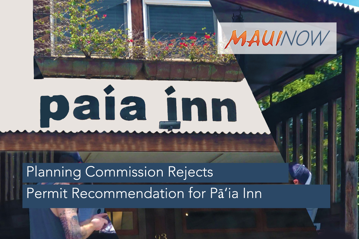 Planning Commission Rejects Permit Recommendation for Pā'ia Inn