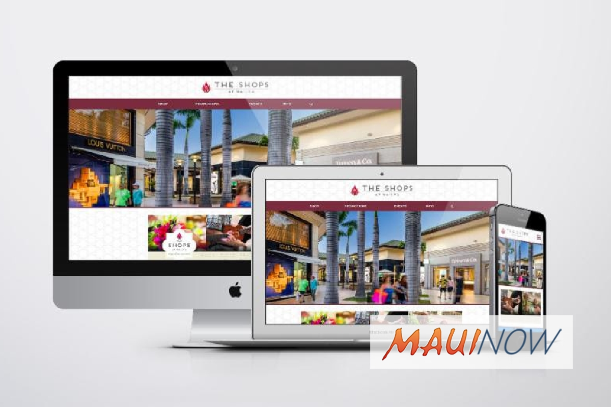 The Shops at Wailea Launches New Website for Enhanced User Experience