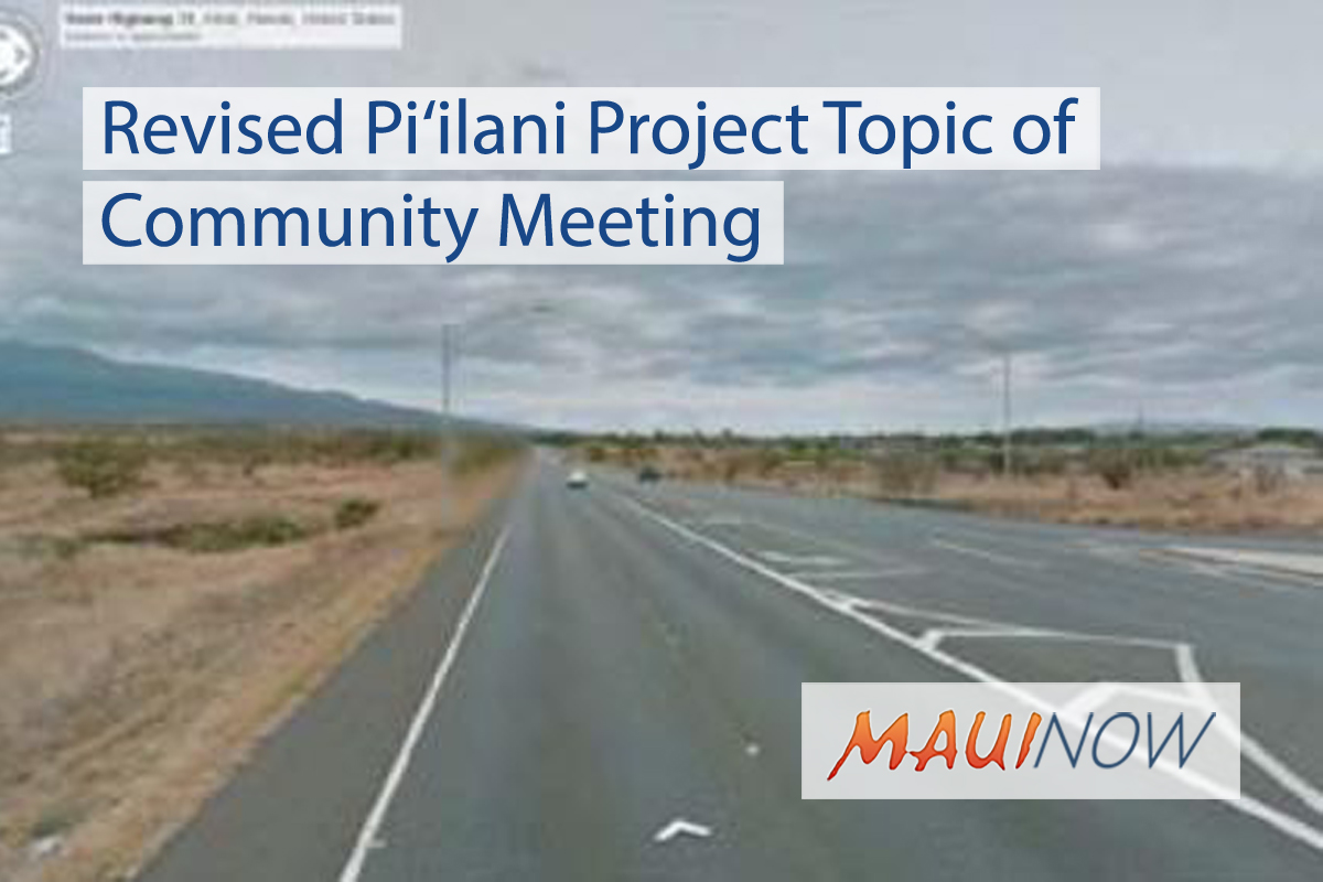 Revised Pi'ilani Project Topic of Community Meeting