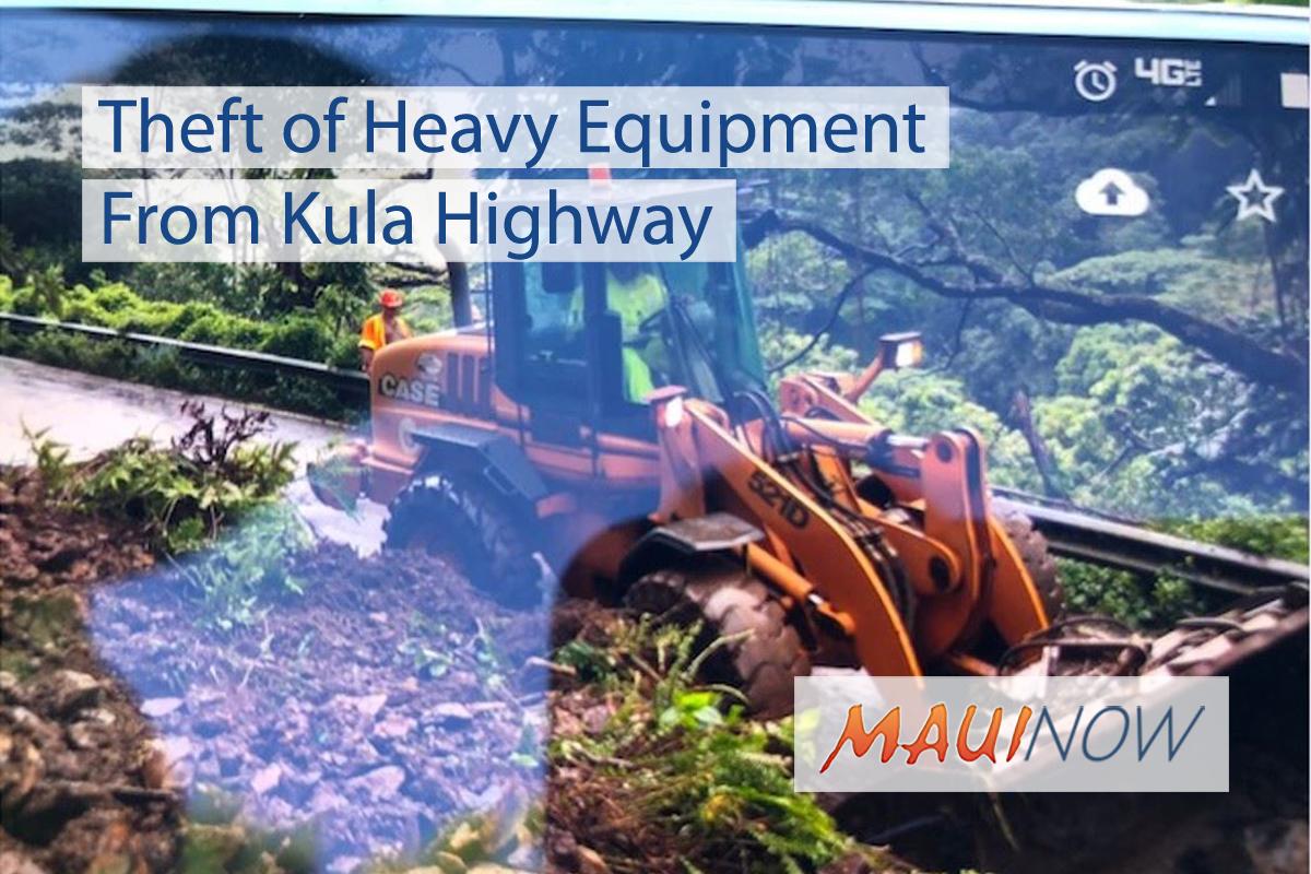 Theft of Heavy Equipment From Kula Highway