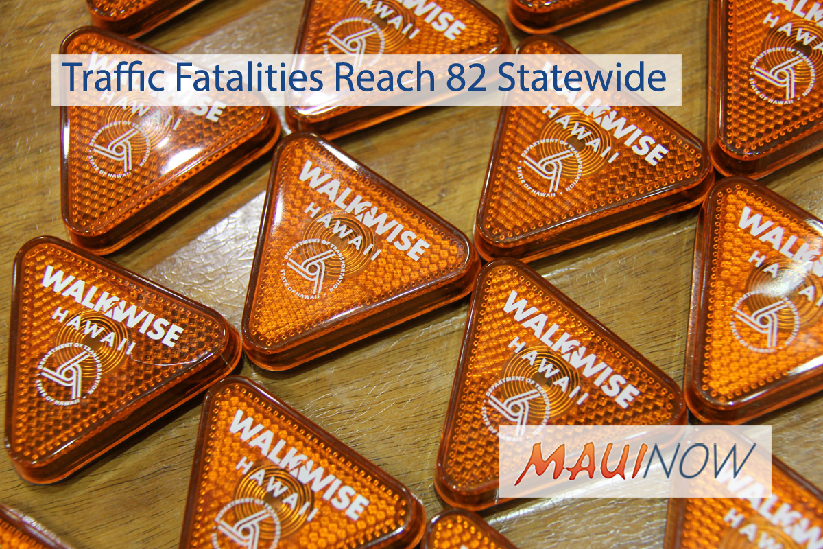Traffic Fatalities Reach 82 Statewide