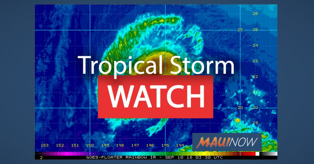 Tropical Storm Watch. Background image courtesy NOAA  NWS  CPHC