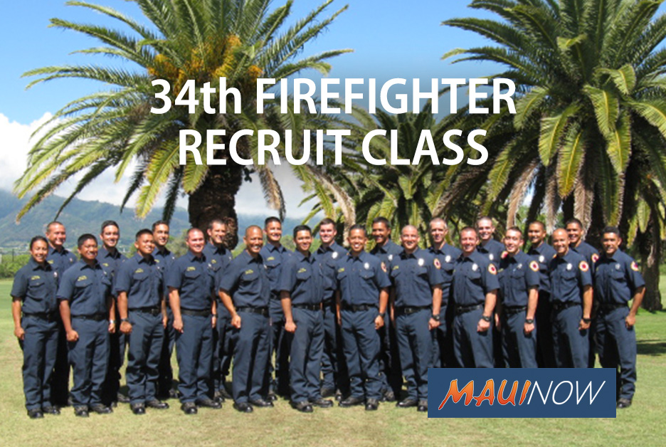 23 Maui Firefighter Recruits Graduate