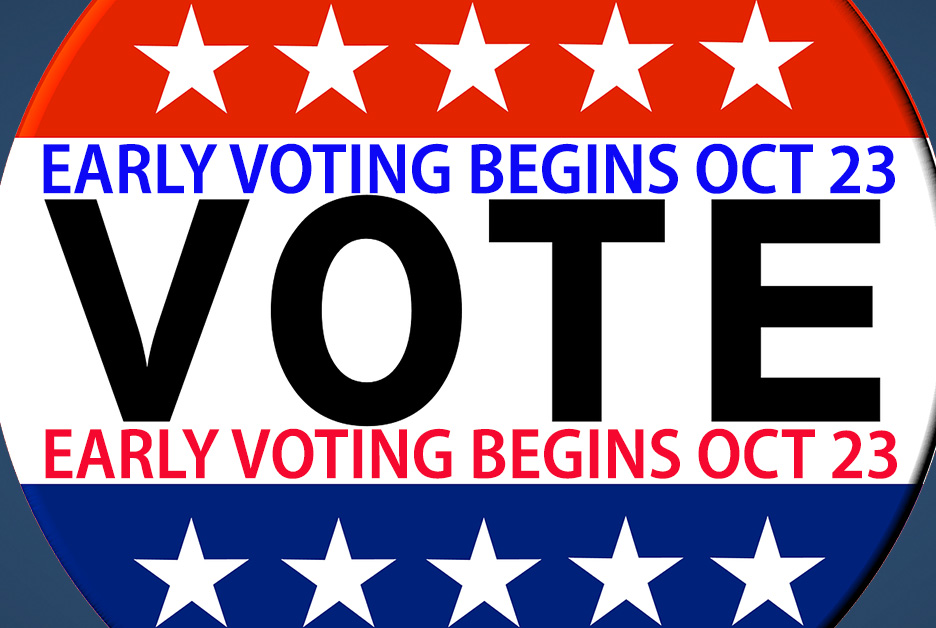 Early Voting Begins Oct. 23