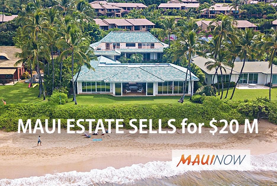 Exclusive Maui Beachfront Estate Sells for $20 Million