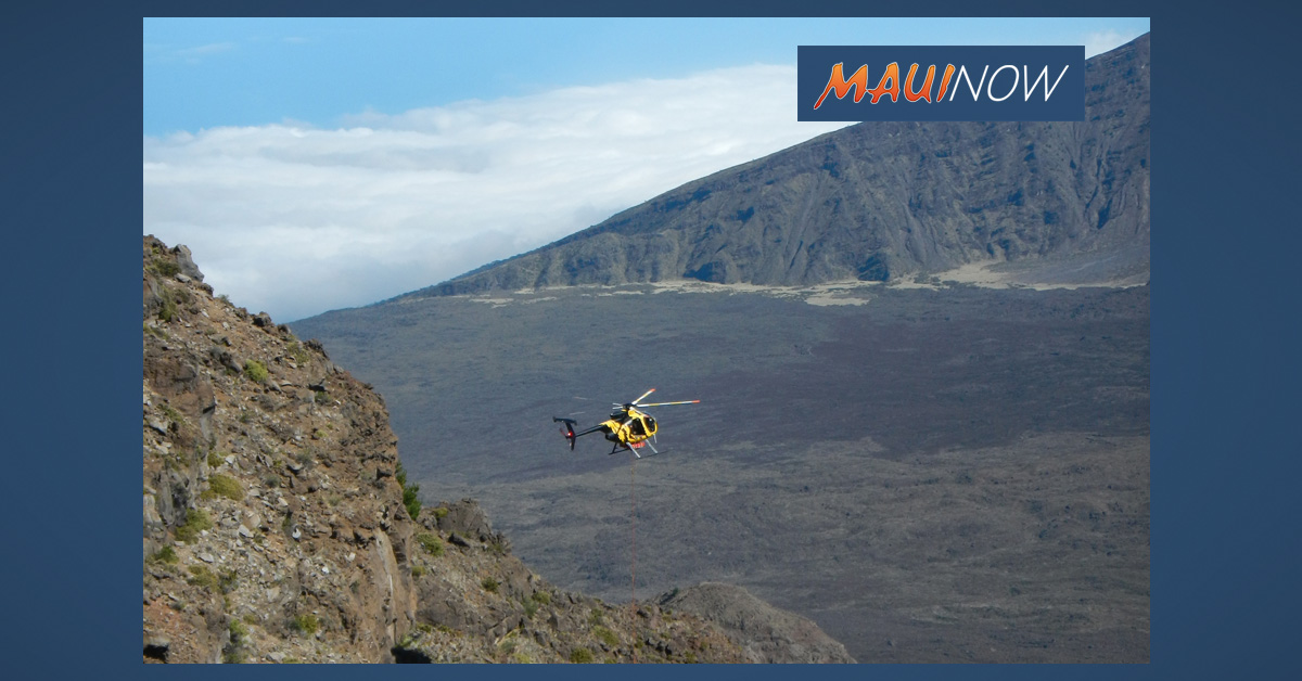 New Backcountry Wood Lockers Reduce Need for Helicopters at Haleakalā