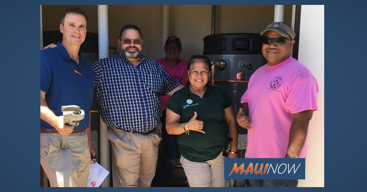 Homeless Resource Center on Maui Receives Donated Water Heaters