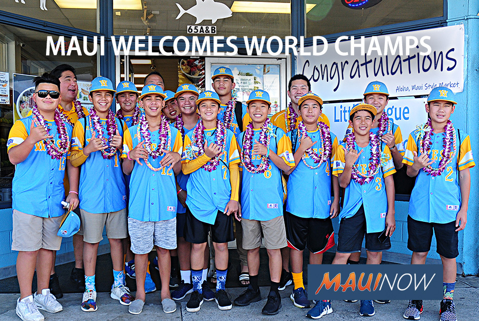 Honolulu Little League World Champs Celebrate on Maui
