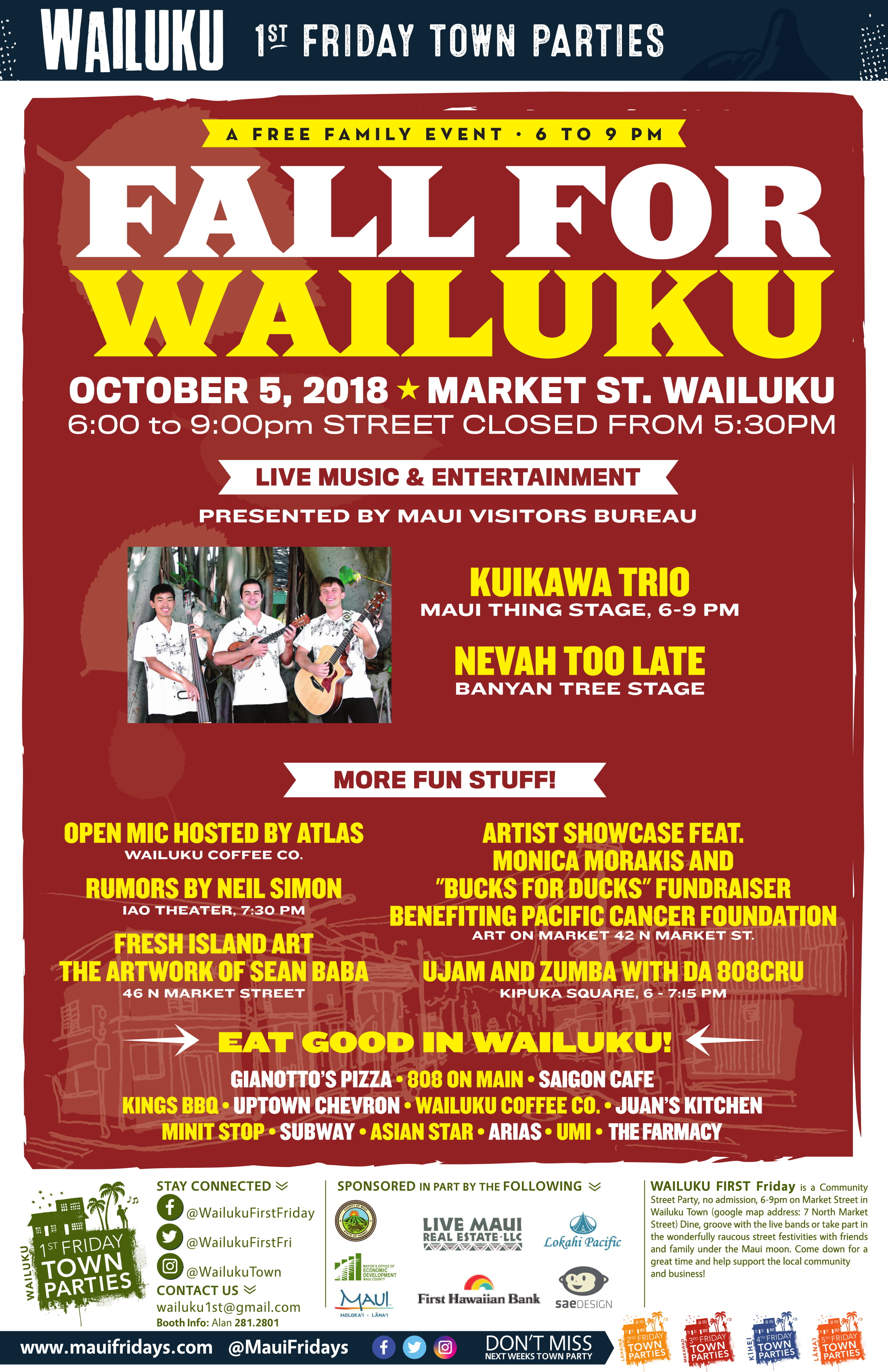 Wailuku First Friday Performers Announced
