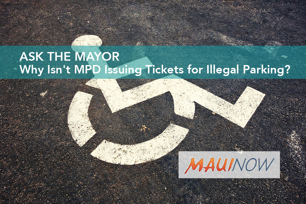 Ask the Mayor: Why Isn't MPD Issuing Tickets for Illegal Parking in Handicapped Stalls?