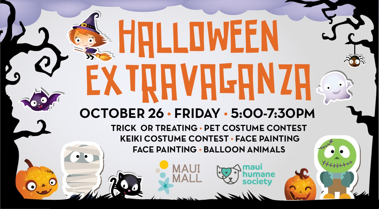 Maui Mall To Host Halloween Extravaganza Oct 26 Maui Now