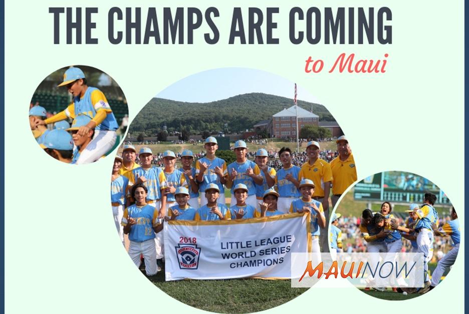 Honolulu Little League World Champs to Visit Maui Oct. 21