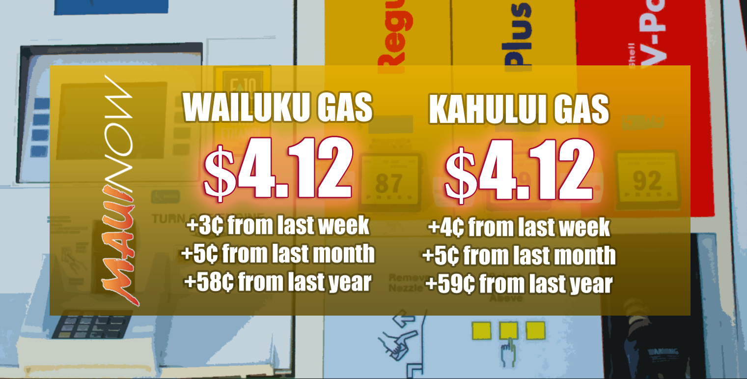 Maui Gas Prices Up 59 Cents Since Last Year
