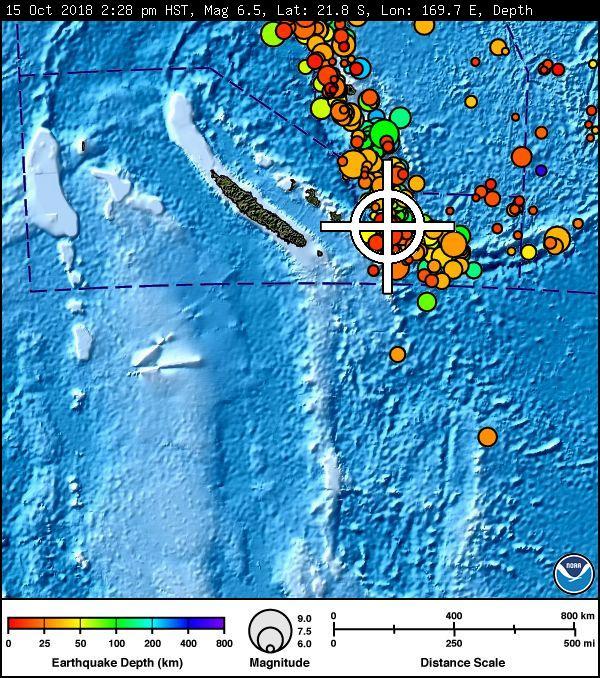 UPDATE: No Tsunami Threat From 6.4-M Loyalty Island Quake