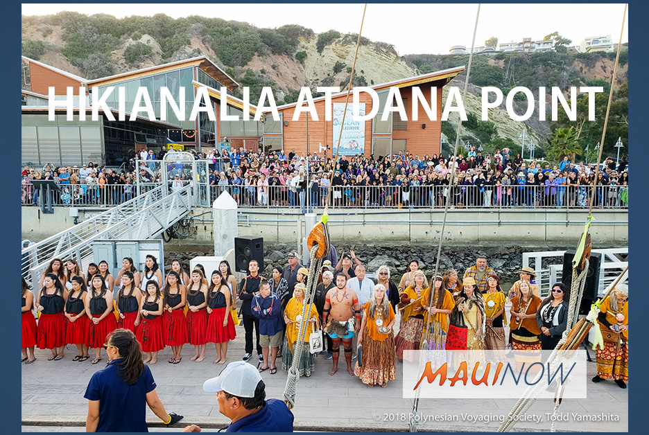 Hikianalia Greeted by Huge Crowd at Dana Point