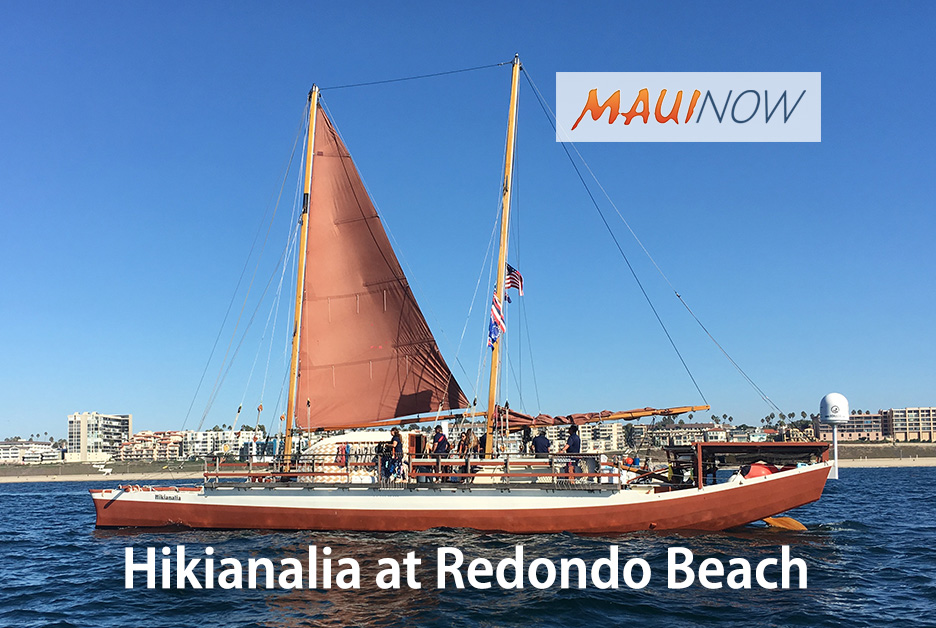 Hikianalia Arrives at Redondo Beach