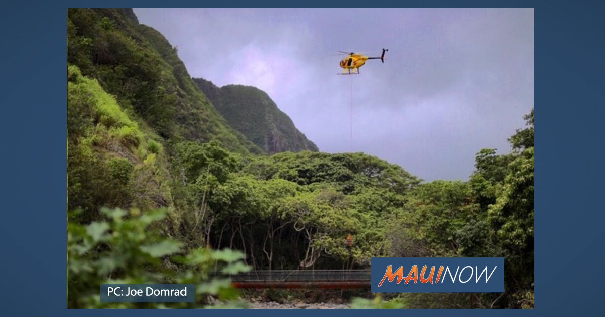 16 Airlifted from Kepaniwai at ʻĪao, Stranded by Rising River