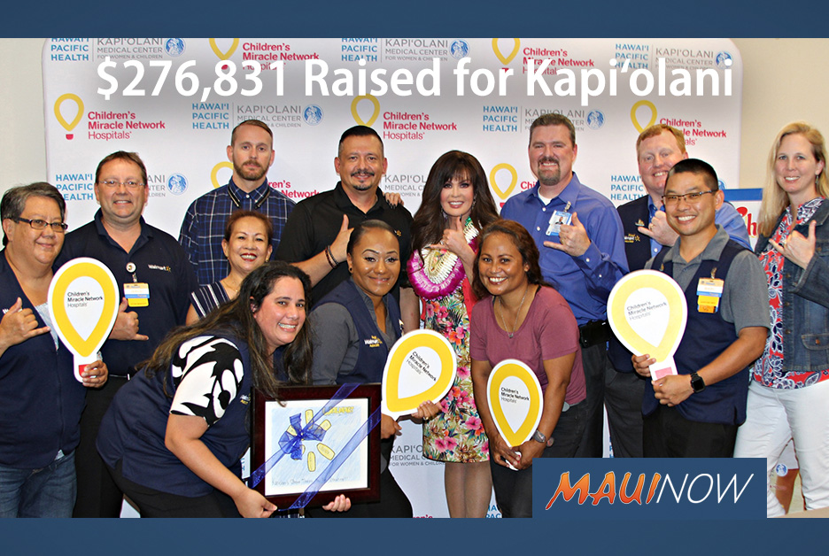 Hawai'i Walmart & Sam's Clubs Raised $276,831 for Kapi'olani