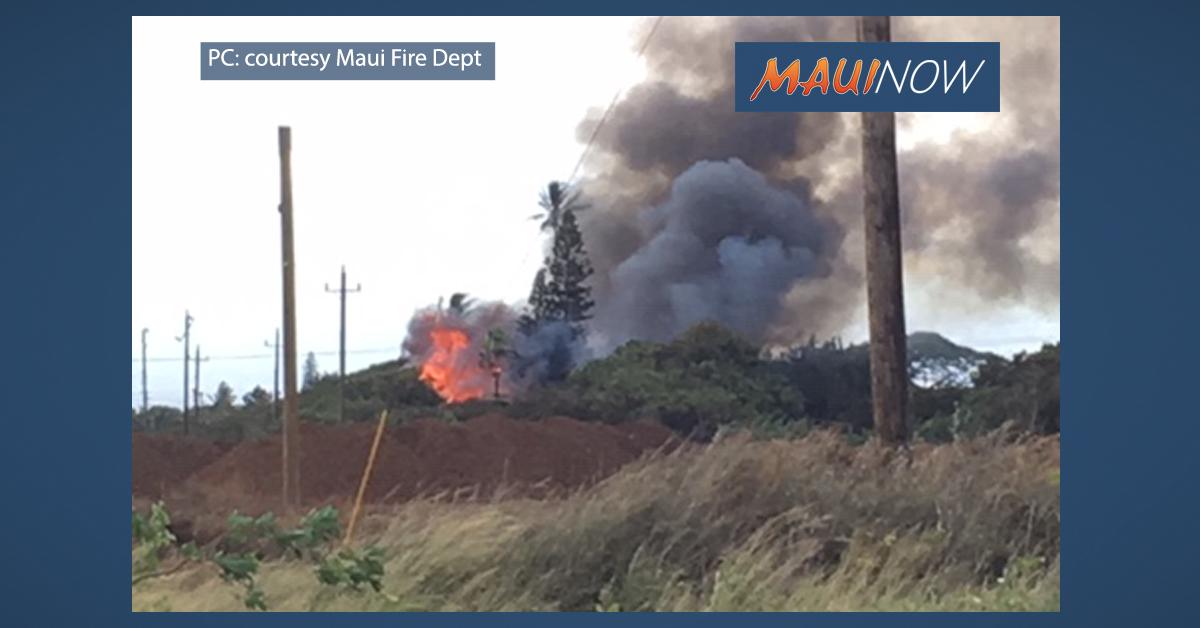 Puʻunēnē Structure Fire Destroys Abandoned Home
