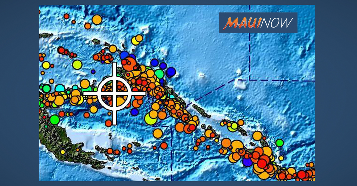 NO THREAT TO HAWAII After Large Papua New Guinea Quake