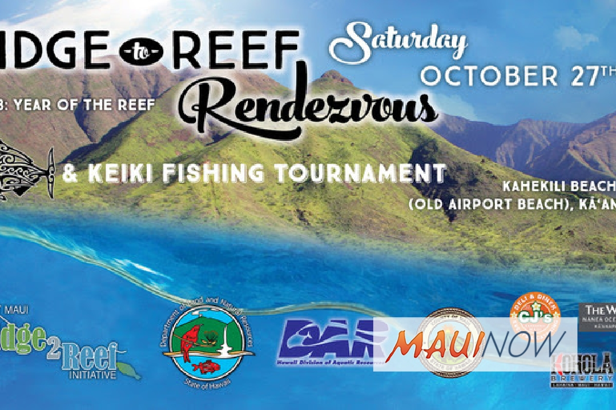 Annual Ridge to Reef Rendezvous Set for Oct. 27