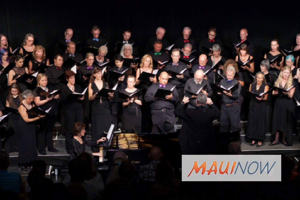 Maui Choral Arts Holiday Concert Set for Nov. 25