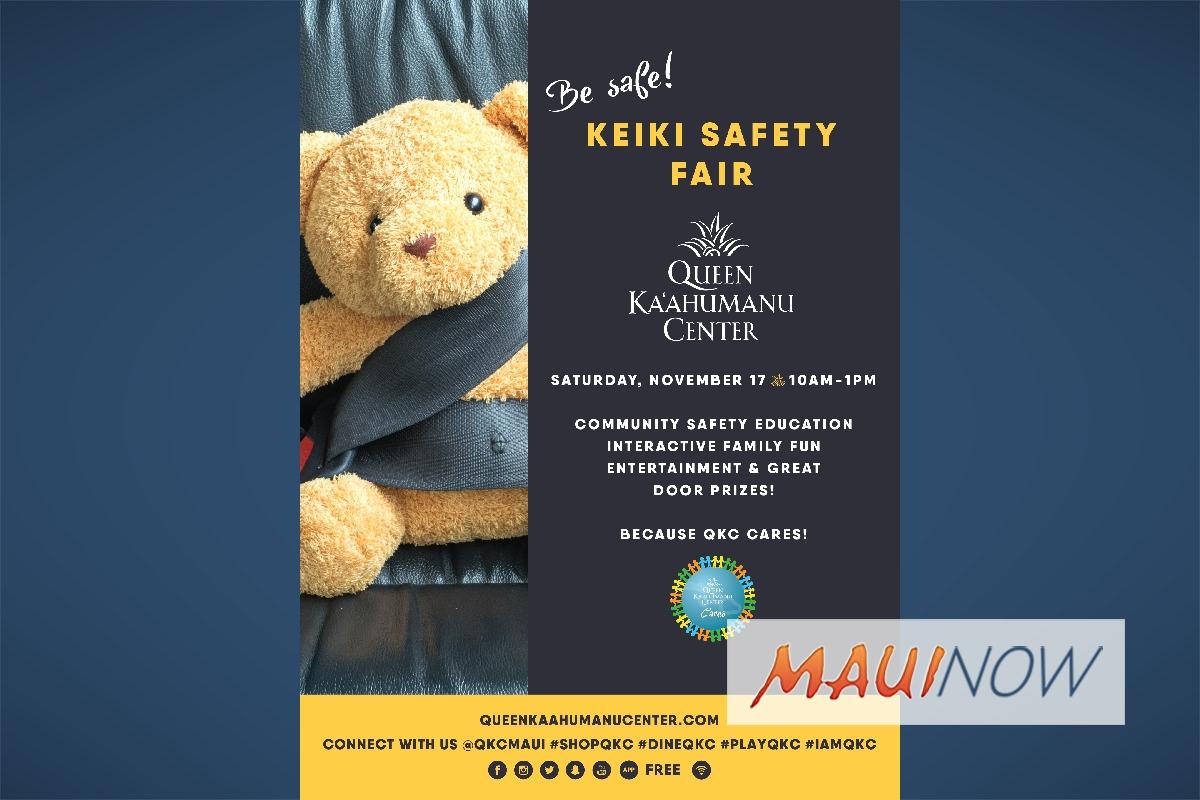Queen Ka'ahumanu Center Launches Keiki Safety Fair