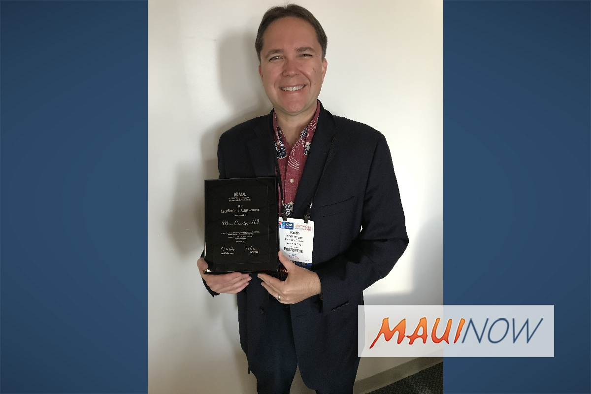 Maui County Managing Director Honored by ICMA