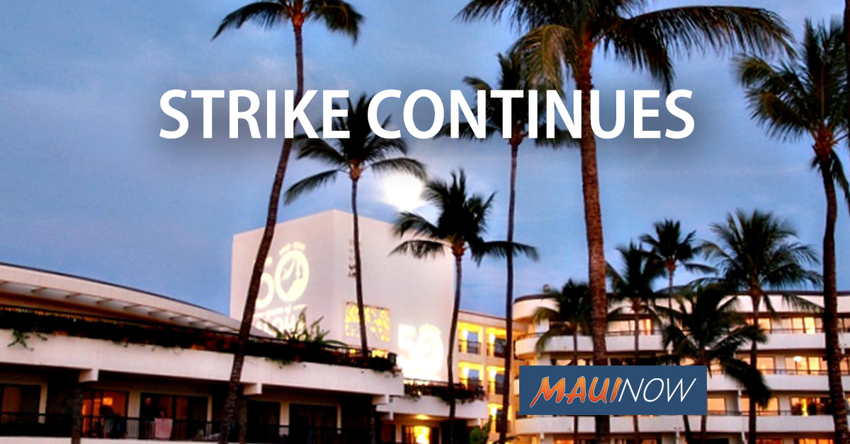Strikers at Sheraton Maui Issued Trespass Citations
