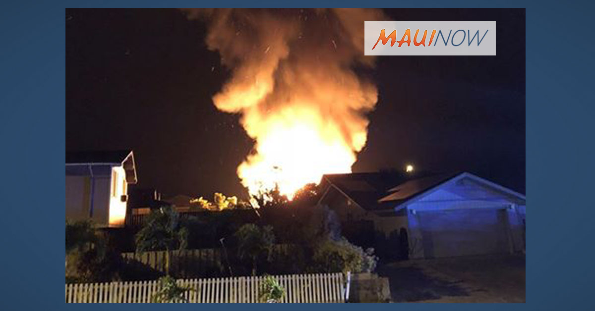 Crews Respond to Overnight Residential Fire in Waiehu Heights