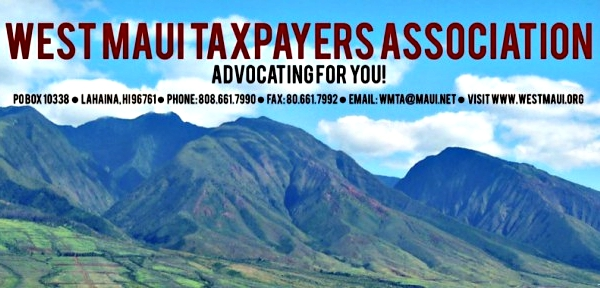 West Maui Taxpayers Association to Host 2018 Candidates Night