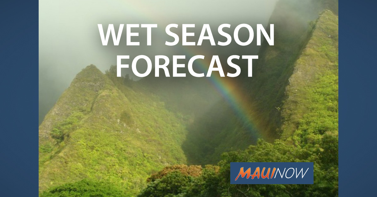 Upcoming Wet Season to Eliminate Current Drought in Hawai'i