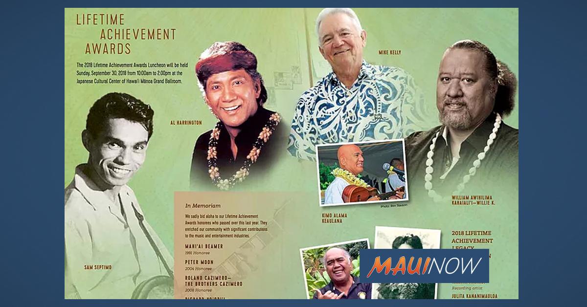 Willie K Earns HARA Lifetime Achievement Award
