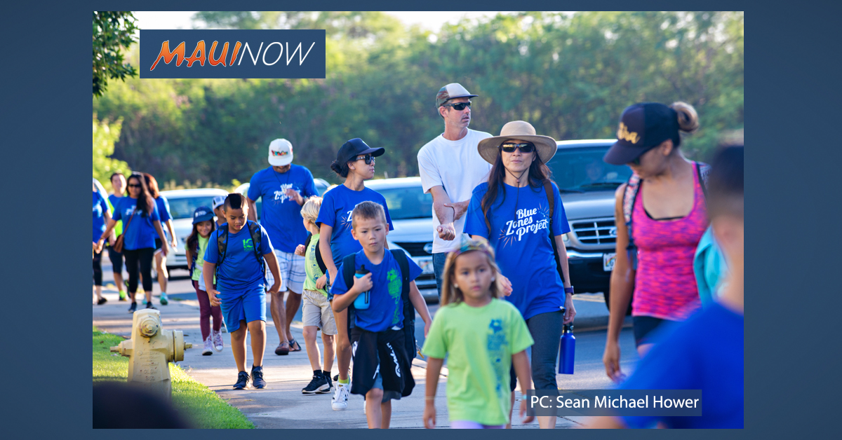 "115 Students Participate in Maui's First Ever ""Walking School Bus"""